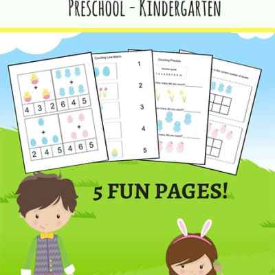Easter Math Worksheets Packet for Preschool and Kindergarten Students | Real Life at Home