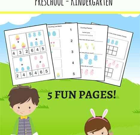 Easter Math Worksheets Packet for Preschool and Kindergarten