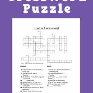 Looking for a fun activity during Lent for kids and teens? Click through for two versions of a free Lent crossword puzzle printable. | Real Life at Home
