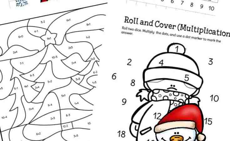 Fun Printable Packet of Winter Math Worksheets for 1st – 3rd Grade