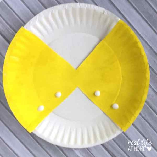 Step Three of Butterfly Craft with Paper Plates