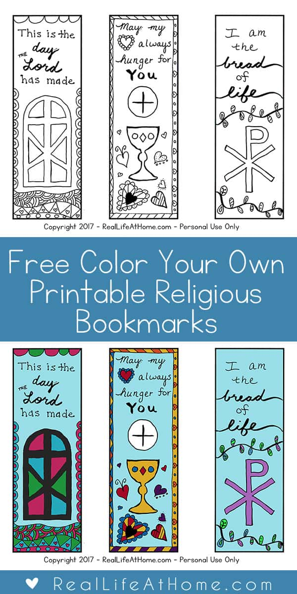 Free Color Your Own Printable Religious Bookmarks