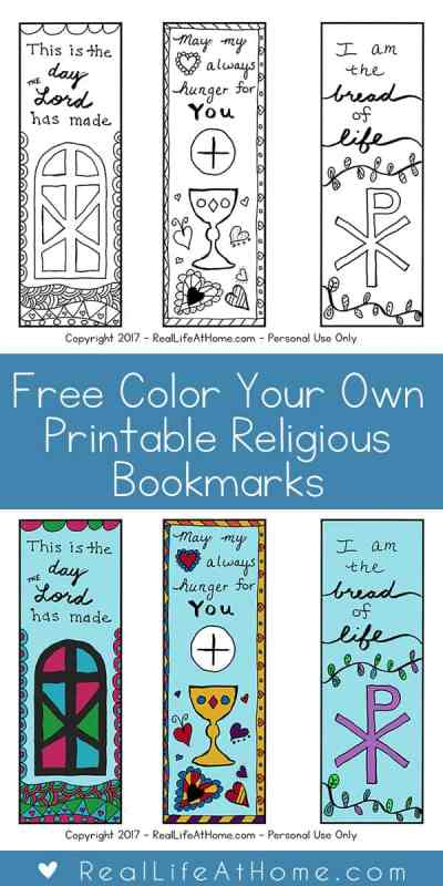 Free Color Your Own Printable Religious Bookmarks for Children and ...