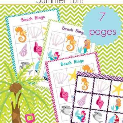 Looking for a fun activity for a summer party? These printable beach bingo cards are a free instant download and perfect for some beach themed fun for kids | Real Life at Home