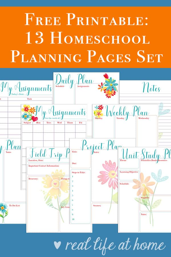 picture regarding Free Printable Homeschool Planner identify No cost Homeschool Coming up with Printables: Suitable for Your