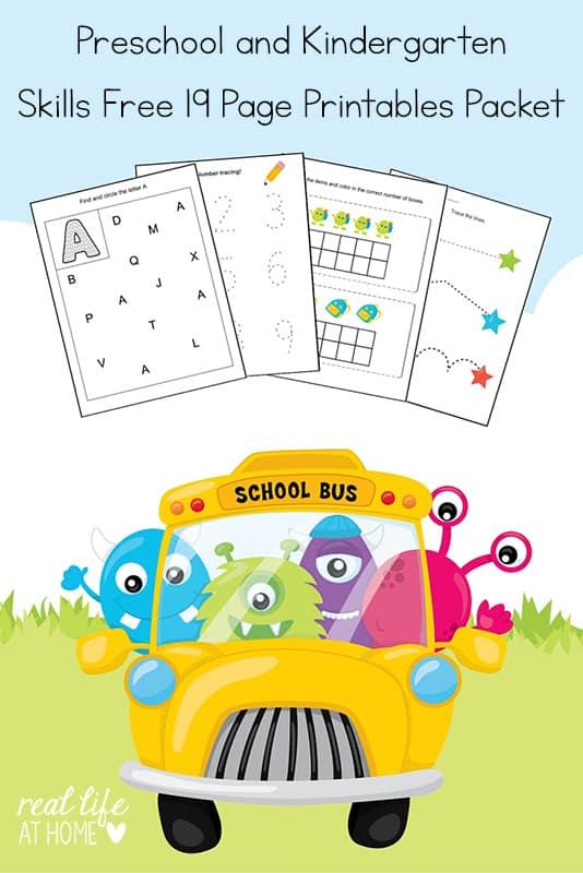photo regarding Kindergarten Packet Printable known as Kindergarten and Preschool Capabilities Worksheets Printable Packet