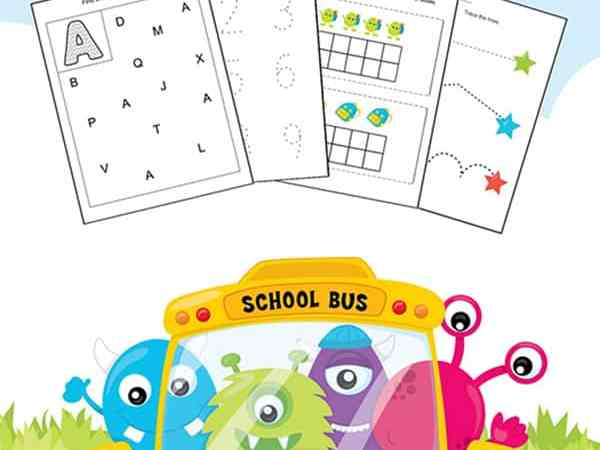 Kindergarten and Preschool Skills Worksheets Printable Packet