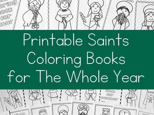 Bundle of Printable Saints Coloring Books for the Whole Year