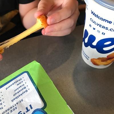 Culver's Cheese Curd Cheese Pull
