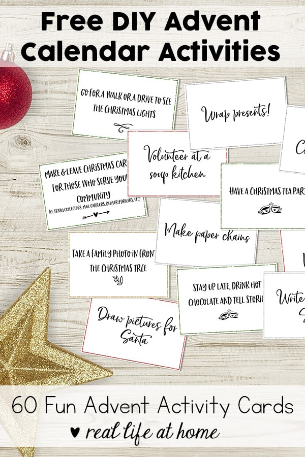 image regarding Free Printable Advent Calendar referred to as No cost Do-it-yourself Arrival Calendar Functions: 60 Enjoyment Introduction Sport