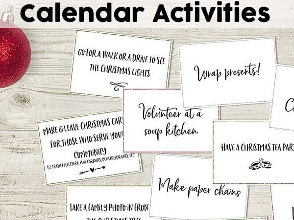 Free DIY Advent Calendar Activities: 60 Fun Advent Activity Cards