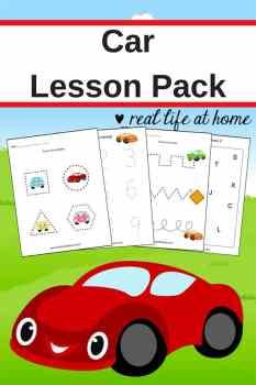 Free Printables: Car Worksheets for Preschoolers and Kindergarteners #cars #PreschoolPrintables #Kindergarten