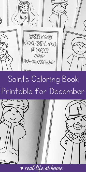 December Saints: Printable Saints Coloring Book for December