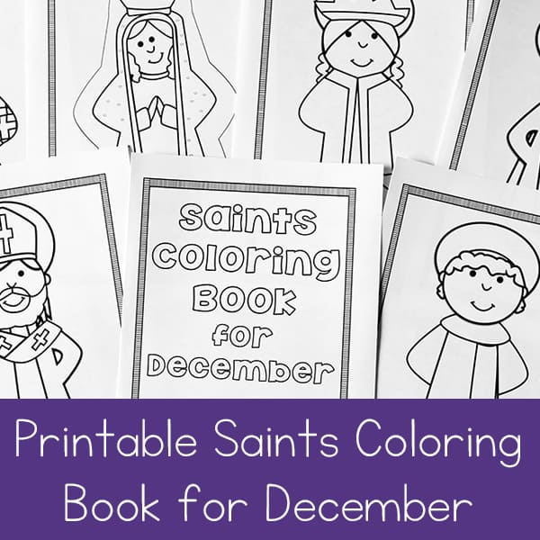 Printable Saints Coloring Book for December