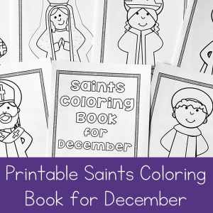 December Saints Coloring Book for Catholic Kids