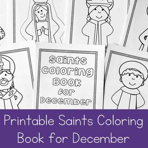 Free Printable December Saints Coloring Book for Catholic Kids