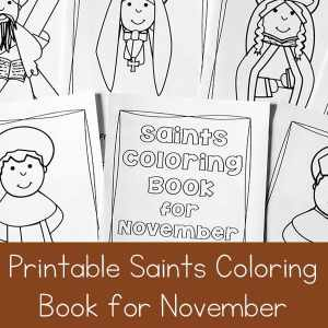 Catholic Saints Coloring Book for November
