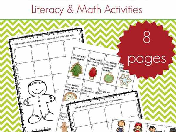 4 Free Christmas Printable Activities for Elementary Literacy and Math