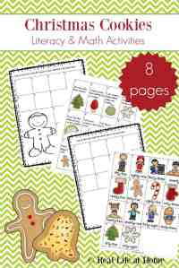 Christmas Cookies Literacy and Math Activities (Free Packet)