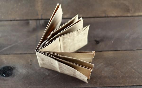 Paper Bag Album Assembly - Step 2