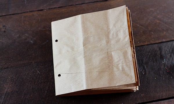 Paper Bag Album Assembly - Step 3