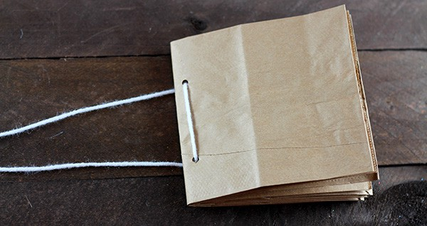 Paper Bag Album Assembly - Step 4