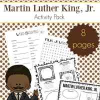 Martin Luther King Jr. Worksheets Packet {Free Printables}
