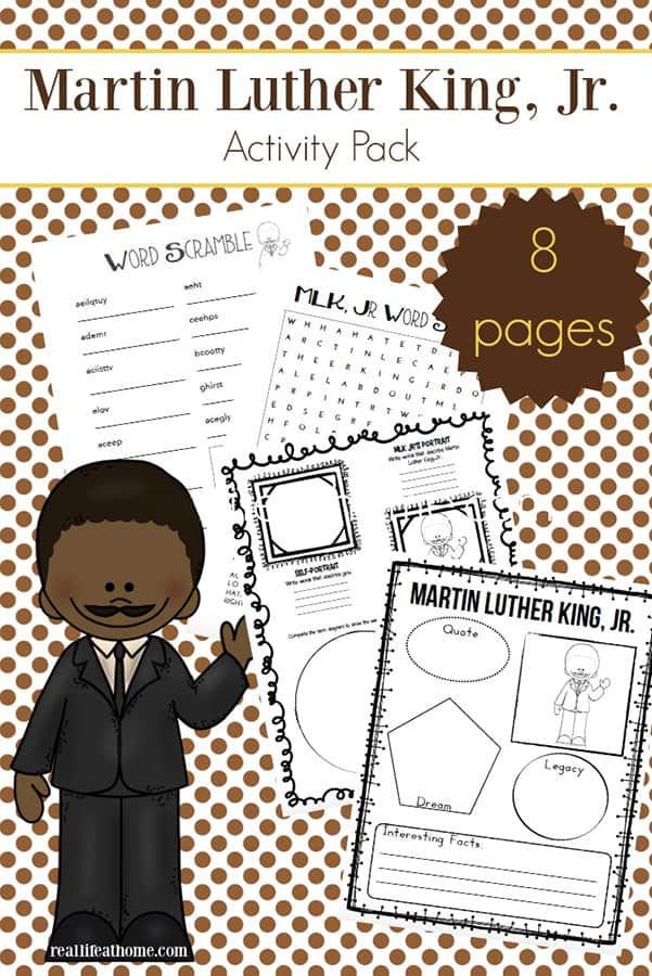 image about Martin Luther King Worksheets Free Printable named Martin Luther King Jr. Worksheets Packet Cost-free Printables