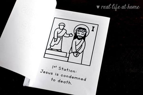 Free Printable Stations of the Cross for Children - Make a Mini Booklet