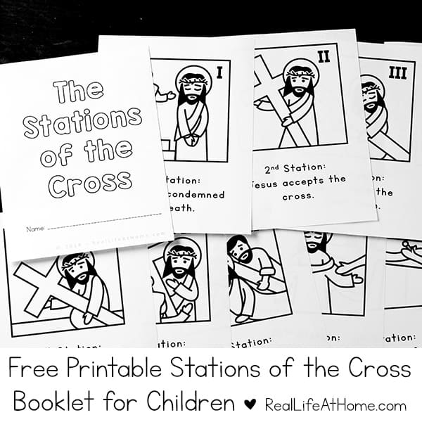 picture regarding Stations of the Cross for Youth Printable known as Printable Stations of the Cross for Little ones (Booklet and