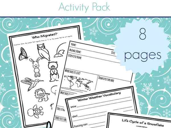 Winter Science Activities: Free Winter Worksheets for Kids
