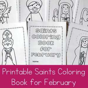 Free Printable Saints Coloring Book for February