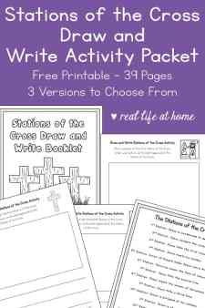 Stations of the Cross Draw and Writing Activity Packet