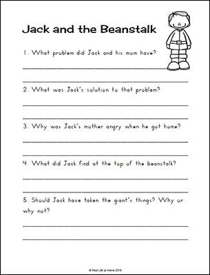 graphic about Jack and the Beanstalk Printable identified as Jack and the Beanstalk Worksheets and Printables Packet for Children