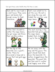 Jack And The Beanstalk Sequencing Activities Free Printable