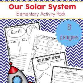 Free Solar System Printables Packet for Elementary Students