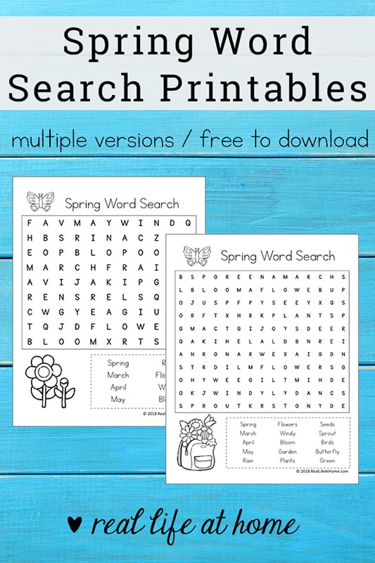 image relating to Word Search Printable Pdf known as Totally free Printable: Spring Term Appear Printable Puzzle for Young children