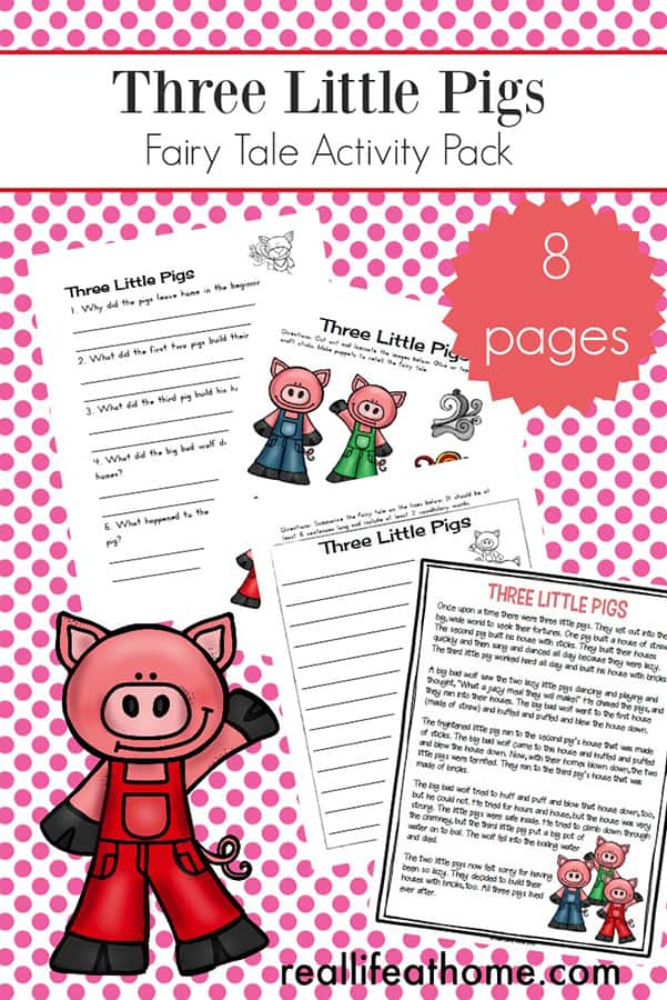 photo about 3 Little Pigs Story Printable identified as 3 Minor Pigs Worksheets and Functions Packet for