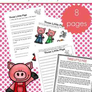 Free Three Little Pigs Worksheets and Activities Packet for Kindergarten - 2nd grade. This packet includes a Three Little Pigs Story Printable, Three Little Pigs sequencing cards, Three Little Pigs puppets page, and more!   Real Life at Home