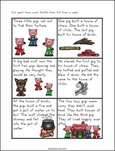 Three Little Pigs Story Sequencing Cards From Real Life At Home Part Of The Free