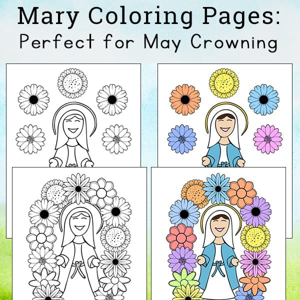 Immaculate Heart of Mary Catholic Coloring Page | Catholic ... | 600x600