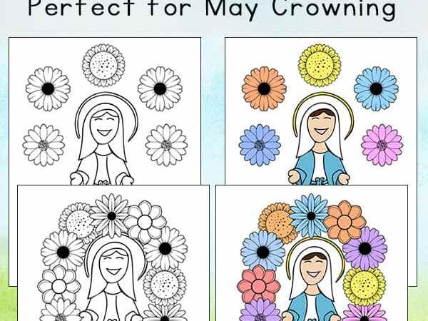 Mary Coloring Pages: Perfect to Use as May Crowning Printables