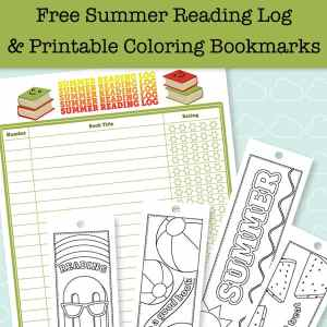 Summer reading is fun! This post has a free printable summer reading log and printable bookmarks to color that aresummer-themed. There are also more ideas for summer reading fun.