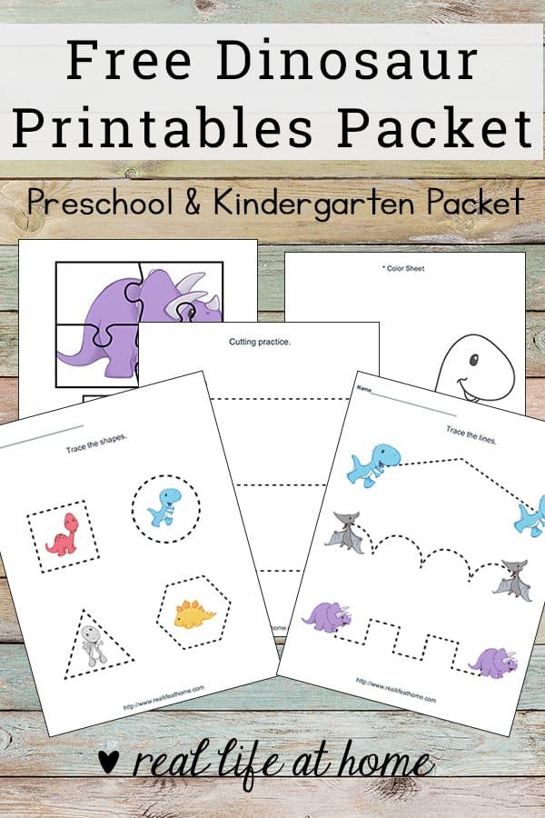 Dinosaur Printables for Preschoolers (Free Dinosaur ...
