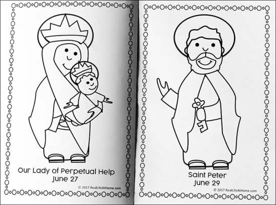 June Catholic Coloring Book from Real Life at Home