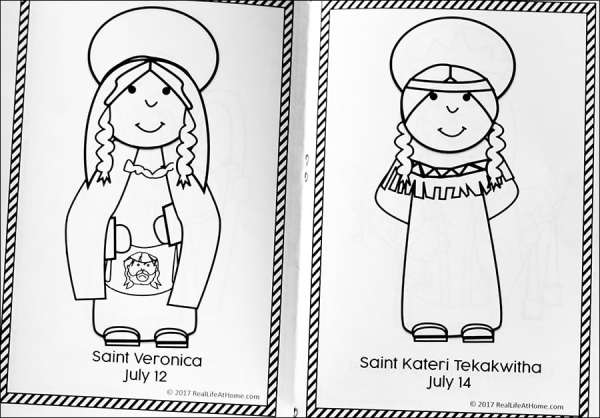 July Catholic Coloring Book from Real Life at Home