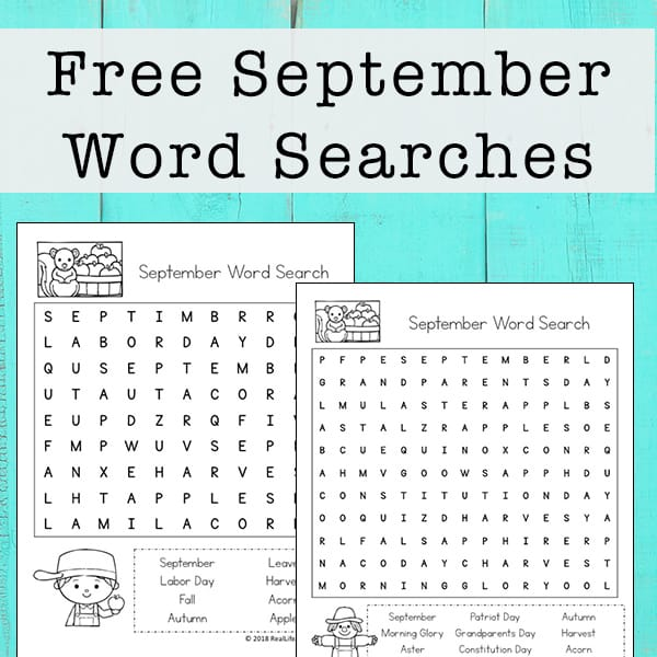 image regarding Printable Wordseach named Free of charge Printable: September Term Look Printable Puzzle for Youngsters