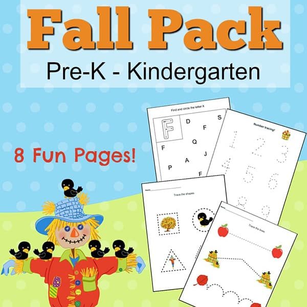 Fall Printables For Preschoolers {Free Printables Packet}