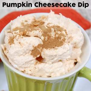 Pumpkin Cheesecake Dip Recipe - Perfect for fall and winter gatherings, the pumpkin fluff dip in this post is quick to throw together and will have your guests asking for the recipe. Included toward the end of this post, you'll also find a printable version of this Pumpkin Cheesecake Dip Recipe.
