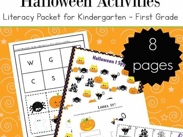 Free Printable Literacy Halloween Activities for Kindergarten – 1st Grade